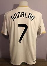 Manchester United Away Football Shirt Jersey 2006/07 RONALDO 7 Large Nike White