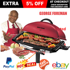 Electric BBQ George Foreman Indoor Outdoor Barbeque Grill Camping Caravan Picnic