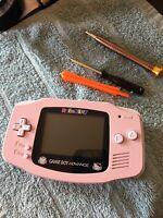 Hello Kitty Sakura Pink Gameboy Advance Glass lens Herbie cartridge GBA NES