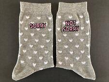 1 Paar Damen Socken Sorry - Not Sorry Lustig Sprüche Strümpfe Herz 37-42 Primark