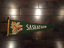 Vintage Saskatoon Saskatchewan Pennant Felt Banner Canada Souvenir SK 1950's