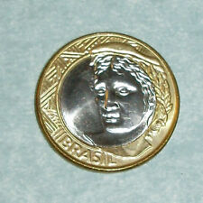 Coins & Paper Money BRAZIL 1 REAL 2002-2018 27mm bi-metal coin AU km652a