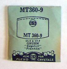 Vintage NOS G-S Crystal MT360-9 for GRUEN Edgehill, Franklin* 25.4 x 17.7 mm