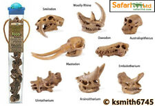 Safari PREHISTORIC ANIMAL SKULLS TOOB plastic toy tube BUNDLE of 8 * NEW 💥