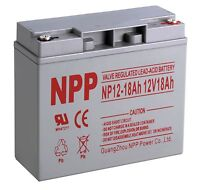 NPP 12V 18Ah Rechargeable Deep Cycle Lead acid Battery HR18-12 UB12180 PS-12180