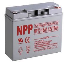 NPP NEW Upgrade 12V 18Ah Sealed Lead Acid Battery for Modified Power Wheels VRLA