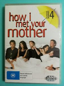How I Met Your Mother DVD Complete Season 4 TV 3 discs R4 Good Condition