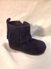 Girls Next Navy Blue Suede Boots Size 7