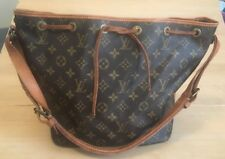 Vtg Auth Louis Vuitton Malletier Monogram Canvas Petit Noe Drawstring Bucket Bag