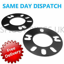 2 * 5mm SHIM ALLOY STEEL WHEEL METAL WIDE SPACERS 4x108 5x108 PCD UNIVERSAL FORD