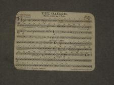 Ancienne Partition Musique Vieux Camarade de Teike -  Foetisch Freres Lausanne