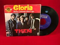 """THEM Gloria 1972 French 7"""" Vinyl single EXCELLENT CONDITION Baby Please Don't Go"""