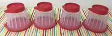 Tupperware Jel-ette Molds, Mini Jello Rings, Jel-Ring Set Of 4 Red Seals New
