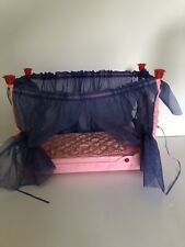 Barbie Sleeping Beauty Musical Slumber 4 Poster Canopy Bed With Lights Rare