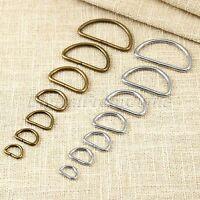 20Pcs 7 Sizes Metal Leather Bag Handbag Purse Strap Belt Web D Ring Buckle Clasp