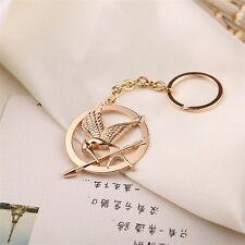 NEW Hunger Game Gold Key Ring Key Chain Keyring Car Keychain Metal Pendant Charm