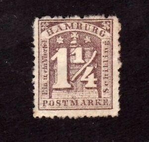 Hamburg stamp #22, MHOG, German State, SCV $95.00
