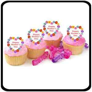 Mother/'s day fondant cupcake toppers Personalised cupcake toppers Marble fondant edible toppers