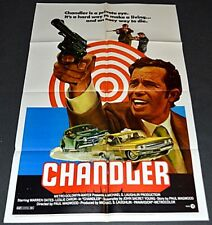 CHANDLER 1971 ORIGINAL 27x41 MOVIE POSTER! WARREN OATES CRIME ACTION!