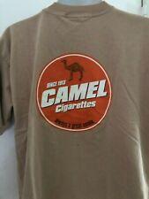 Vintage Camel Cigarettes T Shirt  XL Cigarettes Smoker Joe Camel Tan Great smoke