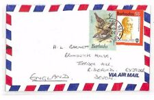 XX79 1981 BARBADOS *Eagle Hall* CDS Airmail Cover Devon BIRDS {samwells-covers}