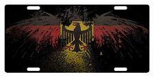 GERMANY Flag Custom License Plate GERMAN Emblem Eagle Version III