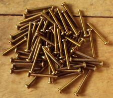 2.5mm SOLID BRASS PAN HEAD SLOTTED MACHINE SCREWS METRIC VARIOUS SIZES AVAILABLE