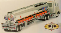 1999 Mobil Chrome Gasoline Tanker Tractor Trailer with Sounds & Lights NOS
