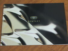 2000 Bentley range original UK large format 28 page brochure