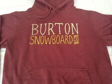 BURTON SNOWBOARDS HOODIE MEDIUM MAROON RED