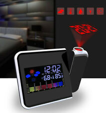 Digital Projection Weather Tempreture Alarm Clock LCD with LED Back Light Snooze