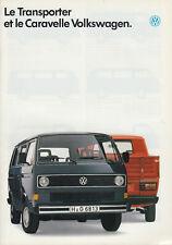 PROSPEKT BROCHURE VOLKSWAGEN TRANSPORTER/caravelle 1988 -französisch-