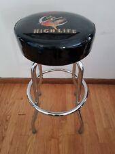 (L@K) Miller high life beer girl on moon bar pub stool Game Room man cave new
