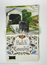 Kay Dee Hand Printed Linen Towel Dutch Country Pennsylvania Vintage Kitchen