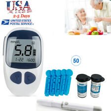 USA Blood Glucose Starter Glucometer Sugar Meter Monitor Diabetes+50 Test Strips
