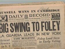 Boston Daily Record November 8 1933 Prohibition Over Machine Gun Kelly Mae West