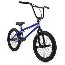 "Elite BMX 20"" Bike Stealth Freestyle Blue NEW 2020 1-Piece crank"