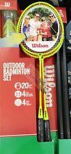 Wilson Outdoor Badminton Set 4 x Racquets 4 x Shuttlecocks 20 FT Net Included