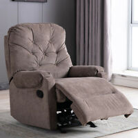 Manual Recliner Armchair Fabric Sofa Overstuffed Padded Cushion Accent Chair
