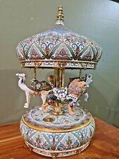 San Francisco Music Box Carousel Cloisonne Enamele Ellen Kamysz 114/500 Rare *