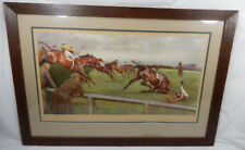 Cecil Aldin Grand National The Canal Turn Signed Artists Proof Horse Racing
