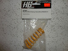 PARTS NEW Hot Bodies (HB), 67451 Big bore shock spring (yellow/68mm/68gf/2pc)