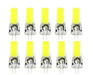 10pcs G4 GU4.0 LED Light Bulb COB 2508 Silicone Lamp DC12~24V 3W White H