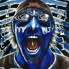 Vintage XFL Hitmen 2000 MENS 2XL Liquid Blue Tie Dye Football Shirt NY NJ VTG