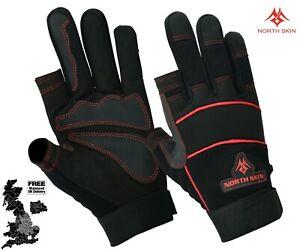 Unisex Work Safety Gloves Mechanics Quarter Finger 2 Finger Builder Carpenter UK