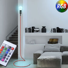 RGB LED Stand Lampe Rouge Télécommande Salon Textile Plafond Floodlight Dimmable