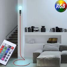 RGB LED Steh Lampe rot Fernbedienung Wohn Zimmer Textil Decken Fluter dimmbar