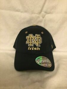 Notre Dame Fighting Irish NCAA Zephyr Navy Blue One Size Stretch Fit Hat Cap New