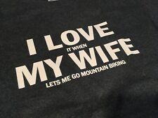 Mountain Biking T-shirt (Wife Fun) Mtb Bike Cycling Shirt