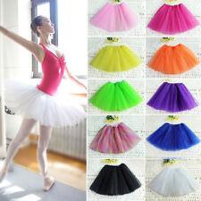 Adult Women Teen 3 Layer Tutu Ballet Dance Petti Skirt Party Costume Tutus New